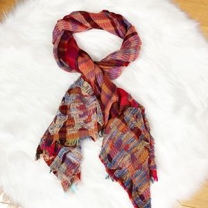 Anthropologie Vismaya Textured Mixed-Media Scarf